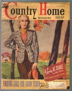 Country Home 9/1938 Good Girl art cover by Carl Mueller-pulp fiction-VG