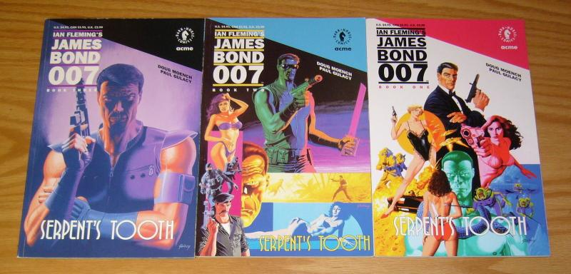 Ian Fleming's James Bond 007: Serpent's Tooth #1-3 VF/NM complete series 2 set