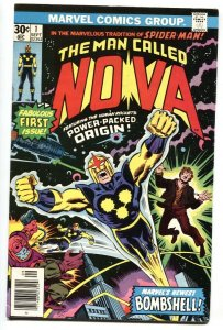 NOVA #1-MARVEL - comic book BRONZE KEY-1976-1st issue VF+