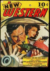 NEW WESTERN 1942 MARCH PULP FRONTIER ACTION STORIES GUN FN