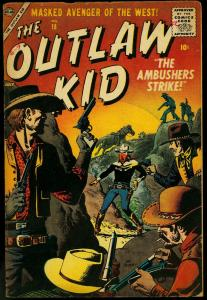 The Outlaw Kid #18 1957- Atlas Western Comic- Maneely- Williamson VG