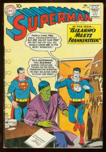Superman #143 1961- Bizarro meets Frankenstein cover- VG