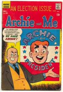 Archie And Me #25 1968-BETTY-ARCHIE FOR PRESIDENT good