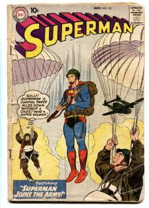 SUPERMAN #133 comic book 1959-DC COMICS-PAARACHUTE COVER-MILITARY
