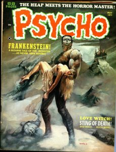 Psycho  #3  1971-Skyward-Frankenstein cover by Boris-Adkins-Everett-FN