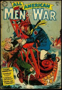 ALL-AMERICAN MEN OF WAR #15 1954-DC COMICS-GERMAN LUGER G/VG