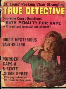 TRUE DETECTIVE-OCT  1957-SPICY-MURDER-KIDNAP-RAPE- KRAUSS COVER-poor P