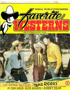 Favorite Westerns Issue # 7 Serial World Publishers Magazine Trail Riders  JL20