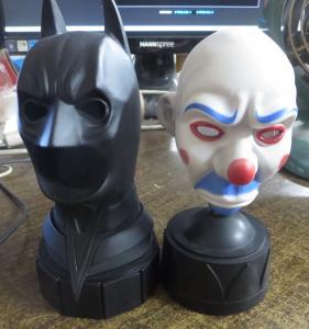 BATMAN: THE DARK KNIGHT DVD/BLU-RAY SPECIAL ED BUSTS: JOKER & BAT-COWL!