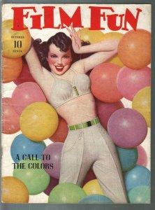 Film Fun 10/1941-Enoch Bolles saucy balloon girl cover-spicy pulp fun-gags-VG