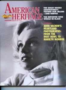 American Heritage 2/1989-Forbes-Marilyn  cover-John Vachon American photograp...