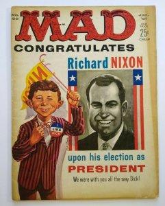MAD Magazine Jan 1961 No 60 Richard Nixon John F Kennedy Presidents Mr. Peanut