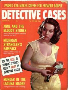 DETECTIVE CASES-AUG/1965-VF/NM-STRANGLER'S-SEX BUTCHER'S-LAST CURTAIN CALL VF/NM