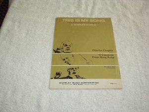 This is My Song Sheet Music (From A Countess from Hong Kong) 1967