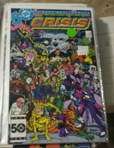 CRISIS ON INFINITE EARTHS # 9 DC COMICS 1985 VILLIAMS UNITED +ANTI MONITOR