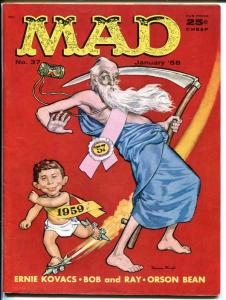 MAD #37-NEW YEAR'S COVER BY MINGO-WOOD-ORLANDO-DRUCKER-1958-vf