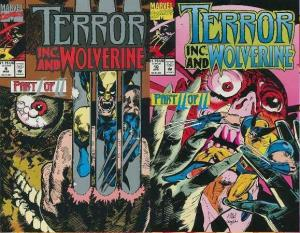 TERROR INC (1992) 9-10  WOLVERINE 2-part story!