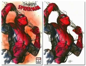 SYMBIOTE SPIDER-MAN #1 GABRIELE DELL'OTTO TRADE/VIRGIN VARIANT SET LTD 600 SETS