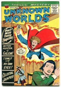 Unknown Worlds #18 1962- Witch Hunter of Salem VG