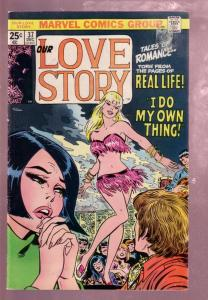 OUR LOVE STORY #37 1975-ROMANCE MARVEL-HOT GO GO DANCER VG/FN