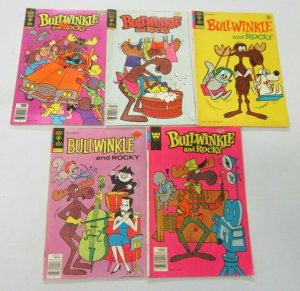 Bullwinkle and Rocky comic lot 5 different books (mostly Bronze Age)