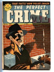 Perfect Crime #9 1951-Cross Pubs-Torture-violence-murder-VG