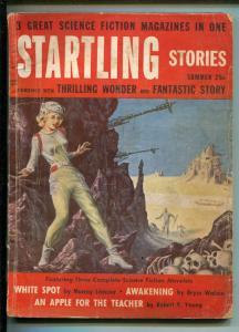 STARTLING STORIES SUMMER 1955-PULP-EMSH COVER-MURRAY LEINSTER-good