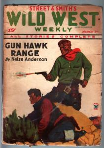 WILD WEST WEEKLY-3/2/1935-PULP-GUN HAWK RANGE VG