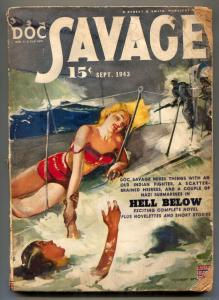 Doc Savage Pulp September 1943- Hell Below G-