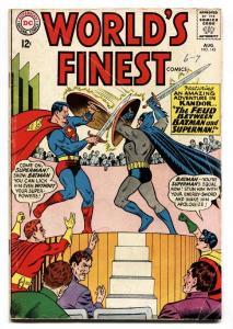 WORLDS FINEST #143 comic book 1962-DC COMICS-BATMAN-SUPERMAN-ROBIN VG