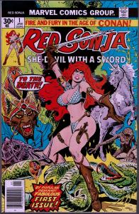 Red Sonja #1 - (1st Series 1977)  8.0 or Better