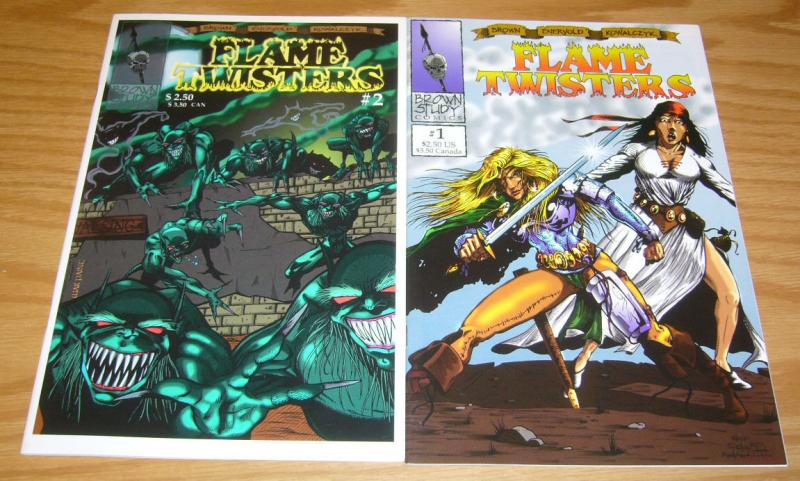 Flame Twisters #1-2 VF/NM complete series - sword & sorcery bad girl comics set