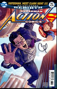 Action Comics #963 signed Clay Mann DC REBIRTH SUPERMAN NM