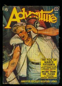 Adventure Pulp March 1942- William Ashley Anderson - Durand Kiefer- VG