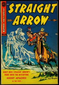 Straight Arrow #30 1953- Ghost Apaches- Fred Meagher- electric chair VG