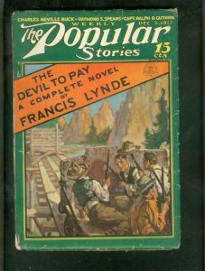 POPULAR STORIES PULP-12/3/27-RAYS SPEARS-FRANCIS LYNDE VG