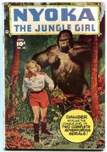 Nyoka The Jungle Girl #30 1949- Fawcett Golden Age- gorilla cover FN-