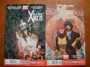 2 Near-Mint Marvel Comic: ALL-NEW X-MEN #13 #14 (2013) Bendis Immonen Gracia Von