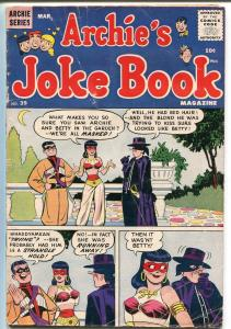 Archie's Joke Book #39 1959-MLJ-Betty-Veronica-Zorro-VG