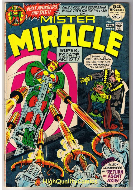 MISTER MIRACLE #7, VF/NM, Jack Kirby, Apokolips, 1971, more JK in store