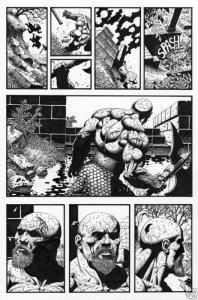 SEAN PATTY original art, WORGARD VIKING BERSERKER 2, 11x17, 1999, Battle, Pg 9