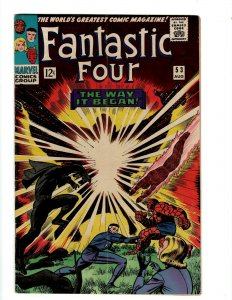 Fantastic Four # 53 VF/NM Marvel Comic Book Thing Human Torch Dr. Doom S Lee OF2