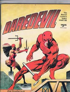 Marvel Comics Index Daredevil Part 9B Frank Miller Elektra Cover Panther J101