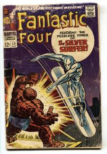 FANTASTIC FOUR #55 1966-KEY ISSUE-SILVER SURFER KIRBY comic book