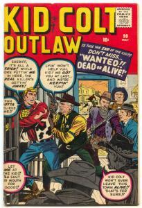 Kid Colt Outlaw #90 1960- Kirby- Stan Lee FN-
