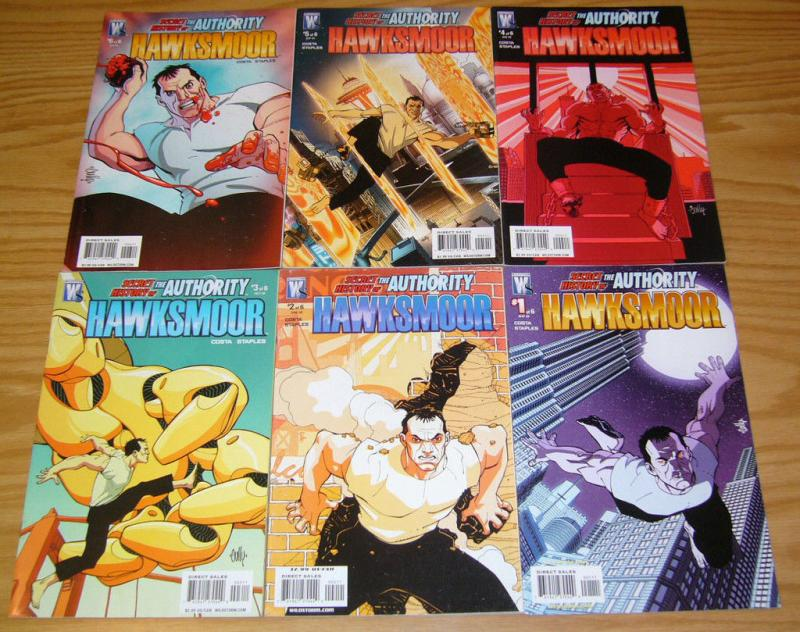 Secret History of the Authority: Hawksmoor #1-6 VF/NM complete series 2 3 4 5