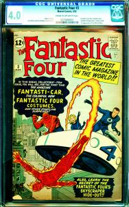 Fantastic Four #3 CGC Graded 4.0 Fantastic Four don Costumes and Establish HQ