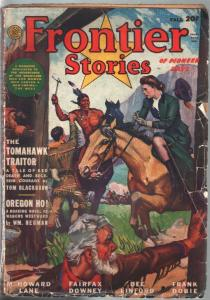 Frontier Stories 5/1943-Sidney Reisenberg Indian fight cover-Clay Allison-G