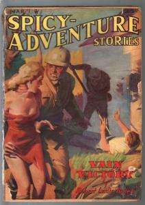 Spicy Adventure Stories 3/1940-Spicy GGA cover-Robert Leslie Bellem-G/VG