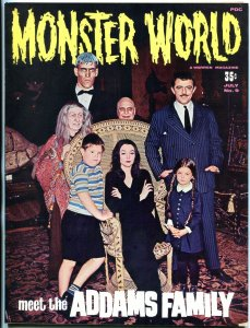 Monster World Magazine #9 1966- Addams Family- Harryhausen- Dracula VF-